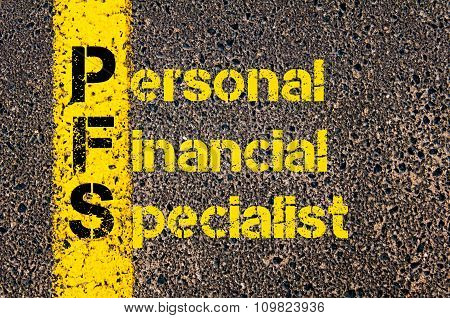 Accounting Business Acronym Pfs Personal Financial Specialist
