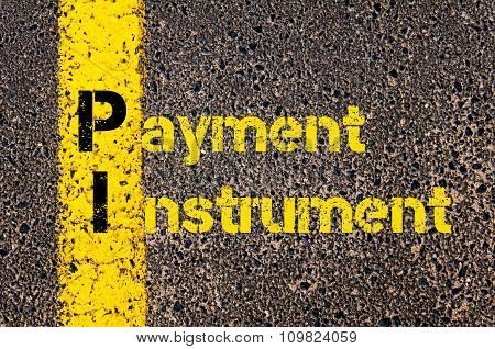 Accounting Business Acronym Pi Payment Instrument