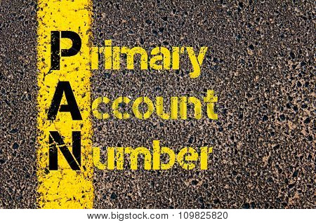 Accounting Business Acronym Pan Primary Account Number