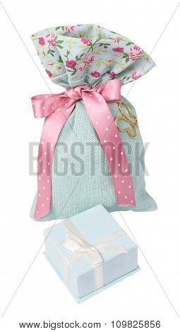 Green Gift Bag And Box