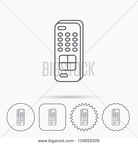 Remote control icon. TV  channels sign.