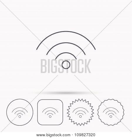Wifi icon. Wireless wi-fi network sign.