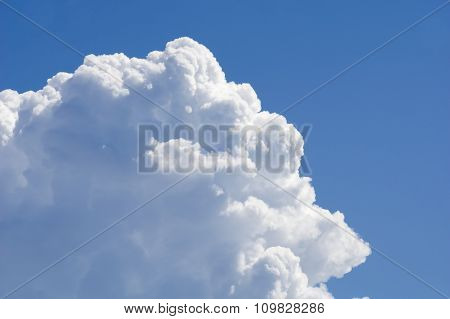 Big White Cloud Against Blue Sky