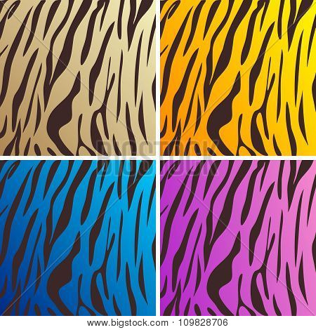 Vector Abstract artistic tiger pattern