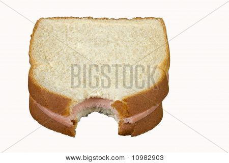 Baloney Sandwich With A Bite
