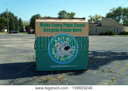 Paper Recycling Bin