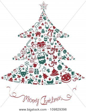 Christmas And New Year Ornament Present Decoration And Object Icon In Isolated Background Badge Temp