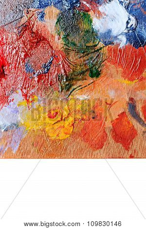 Abstract Colorful Background Oil Paint.