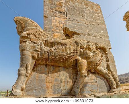 Persepolis Lamassu statues