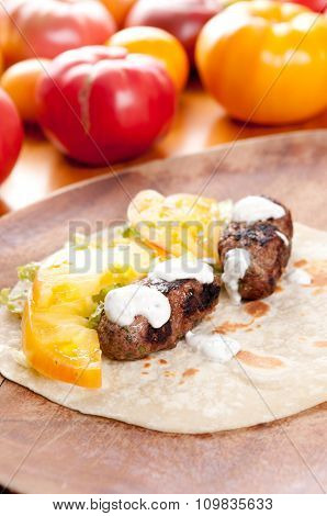 Lamb Kofta On Fltbread