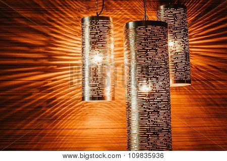 Beautiful modern lamps. Decorative lighting