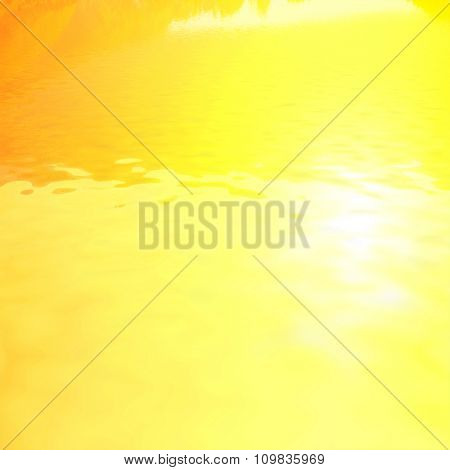 natural landscape with golden sky reflected in water