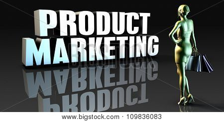 Product Marketing as a Concept with Lady Holding Shopping Bags