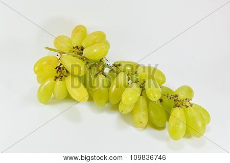 green grape on white background