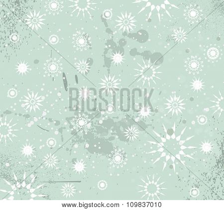Christmas Vintage Background with drops, snowflakes and snowballs for your seasonal greeting cards.