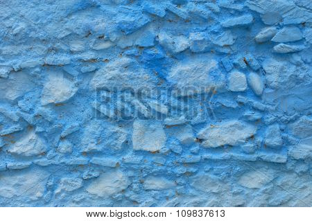 Abstract blue background in Medina of Chefchaouen, Morocco. Chefchaouen or Chaouen is known that the houses in this city are painted in blue.