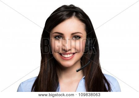 Portrait of a customer representative at work