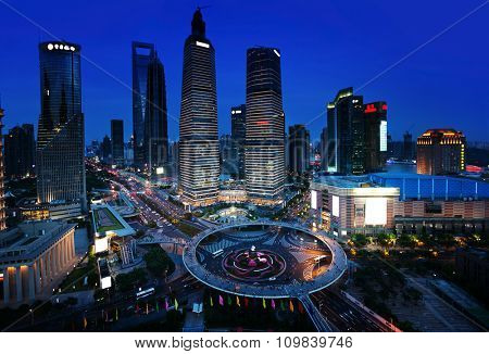 Shanghai night view, China