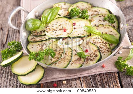 courgette, herbs and cream