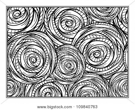 Vector floral motifs coloring page