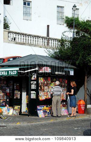 Newspaper stall, Vejer de la Frontera.