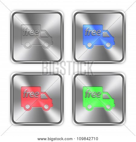 Color Free Shipping Steel Buttons