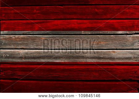 Flag of Austria on wood
