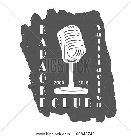 Karaoke club microphone retro song