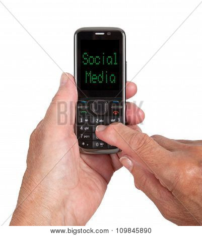 Hands Of Senior Woman With A Mobile Phone