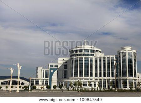 Ashgabat, Turkmenistan - October 20, 2015.  Part Of The Complex - Olympic Village (ashgabat, 2017).