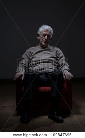 Depressed Elder Man