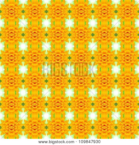 Yellow Lower Bloom Flower  Background, Seamless Pattern, Can Repeat Unlimited