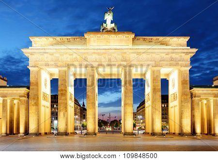 Berlin, Brandenburg At Night