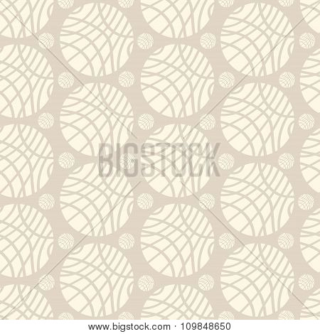 Big And Small Striped Ivory Spheres On Beige Background