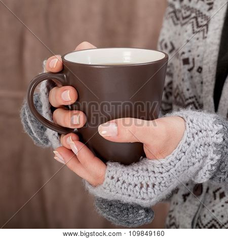 Woman With Hot Chocolate