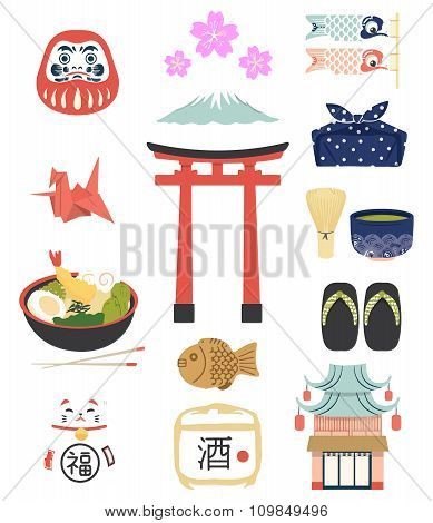 Vector Japanese Culture illustration icon