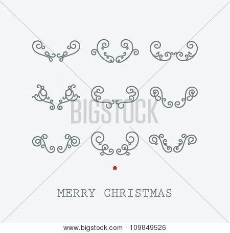 Santas deer horns