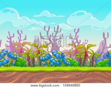 Fantasy vector landscape