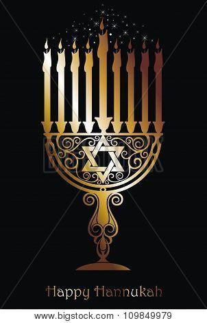 Hannukah logo symbol