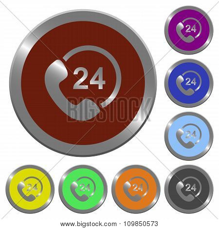 Color 24 hour service buttons