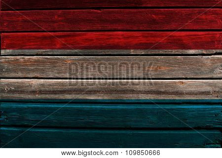 Flag of Luxembourg on wood