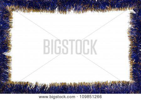 Christmas tinsel frame