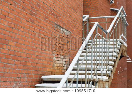 Stairs Up In The Snow