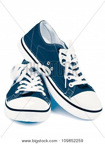 Blue Gym Shoes