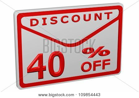 Envelope With Sign Discount 40 % Off