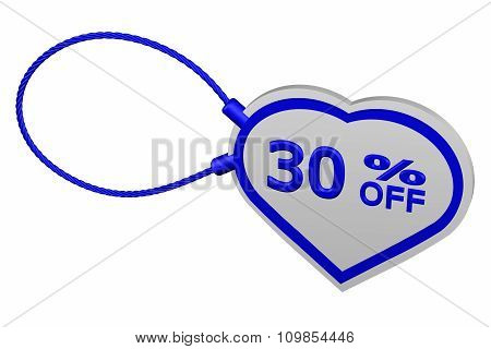Heart Tag With Sign Discount 30 % Off