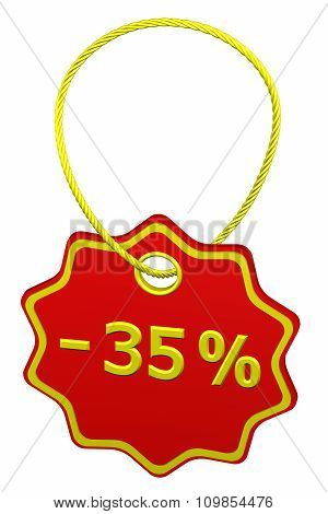 Discount - 35 % Tag