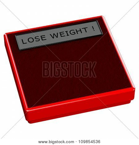 Red Scale With Words Lose Weight