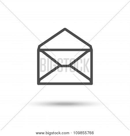 Opened Envelope Icon