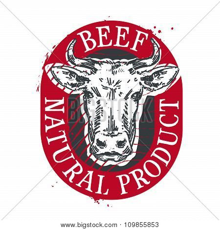 cow vector logo design template. beef or meat icon